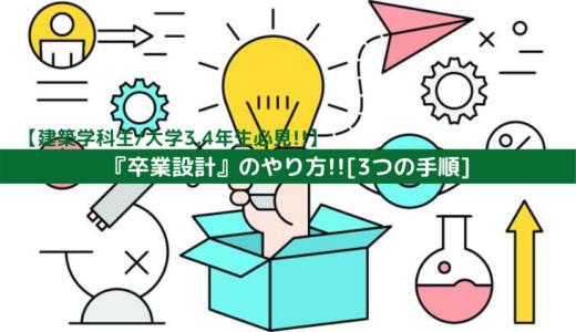【建築学科生/大学3,4年生必見!!】『卒業設計』のやり方!![3つの手順]