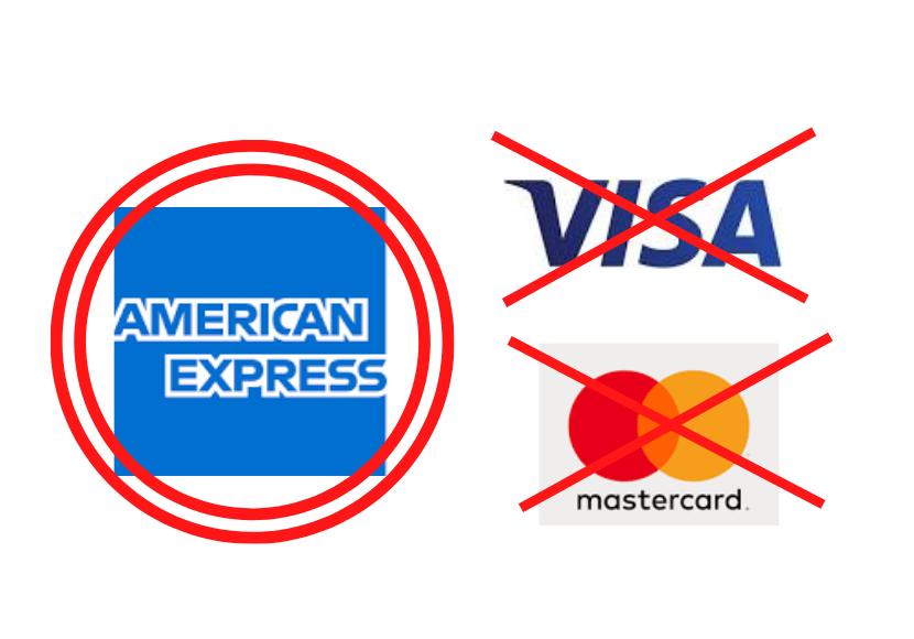 アメリカンエキスプレスのクレジットカードが二重丸の画像