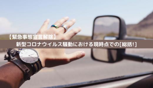 【緊急事態宣言解除】新型コロナウイルス騒動における現時点での[総括!]