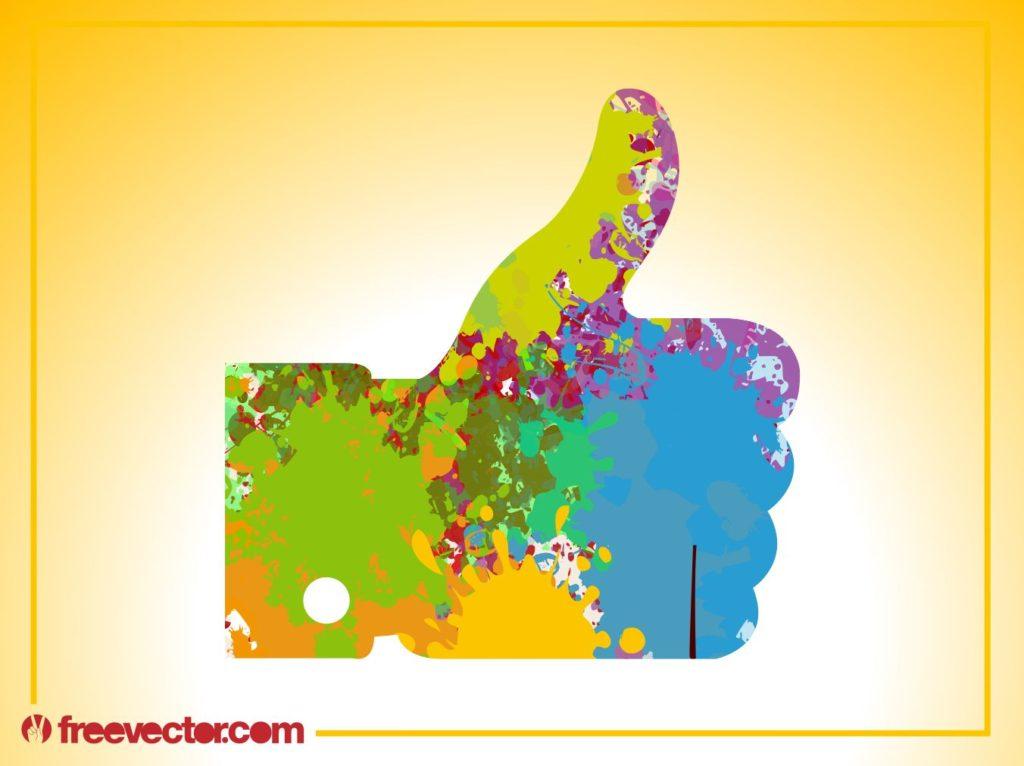 親指をグッと突き上げる彩られたGOODの画像
